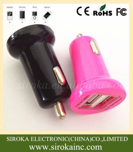 Universal USB 2 in 1 Mobile Phone Battery Car Charger with Dual USB Ports pictures & photos