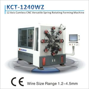 Kcmco-Kct-1240wz 3mm 12 Axis CNC Camless Multi-Functional Spring Forming Machine&Tension/ Torsion Spring Making Machine pictures & photos