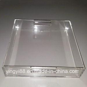 New in Box Modern Clear Acrylic Wine Serving Tray pictures & photos