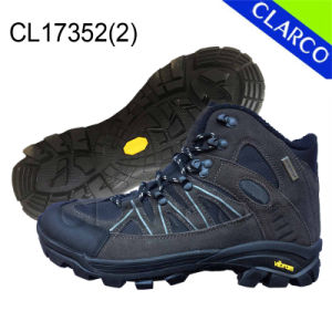 Leather Men Hiking Outdoor Safety Shoes with Rubber Sole pictures & photos
