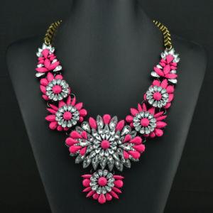 Fashion Glittering Full Rhinestone Diamond Crystal Designer Statement Choker Necklace Jewelry pictures & photos