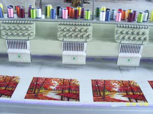 9 Needles 20 Head Tubular Cap Embroidery Machine pictures & photos