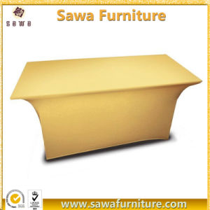 Wholesale Rectangle Polyester Table Cover pictures & photos