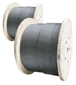 Heavy Grease Ungalvanized 4X31+FC Crane Steel Wire Rope pictures & photos