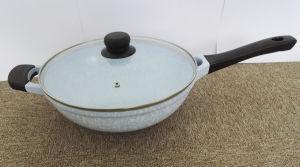 Kitchenware Casting Aluminum Ceramic Coated Wok Cookware pictures & photos