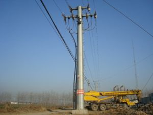 10kV Steel Pipe Transmission Tower pictures & photos