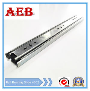 Aeb-4502mm Common Three-Sections Ball Bearing Slide (shaped groove) pictures & photos
