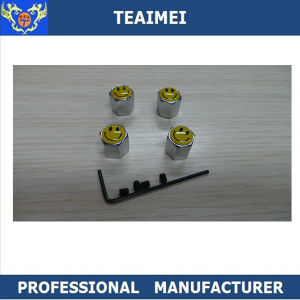 Customized Smile Logo Metal Alloy Center Tire Valve Caps with Keychain pictures & photos