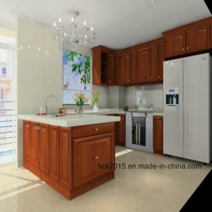 Wholesale Customized American Oak U Style Solid Wood Kitchen Cabinets (BCK-K017) pictures & photos