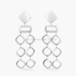 Geometric Dangle Rhombus Earrings Silver Plated Fashion Jewelry Trendy Drop Earrings for Women Gift pictures & photos
