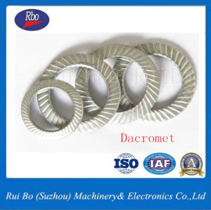 ISO Dacromet DIN9250 Double Side Knurl Lock Washer pictures & photos