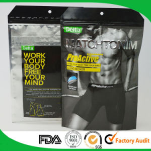 Hot Sell Aluminum Foil Bag Plastic Bag Zipper Lock Bag for Men′s Underwear pictures & photos