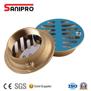 Square Brass Bathroom Shower Floor Drain with Cover pictures & photos