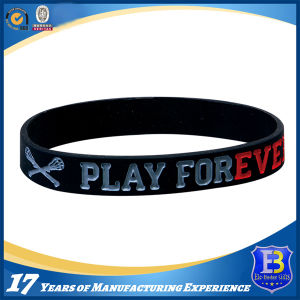 Custom Silicone Wristband for Promotion (ele-PVC002) pictures & photos
