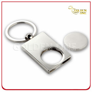 Personalised Pearl Nickel Plated Blank Metal Trolley Coin Keyring pictures & photos