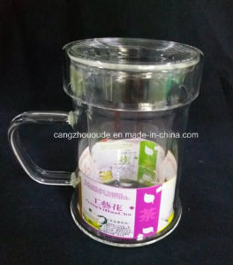 Borosilicate Glass Drinking Pot with Handle pictures & photos