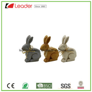 Set of 3 Polyresin Rabbit Figurines for Easter Decoration pictures & photos