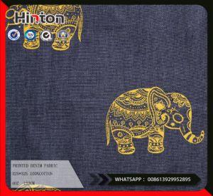 India 4oz Plain 100%Cotton Printed Denim Fabric pictures & photos