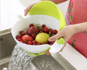 Creative Double Wall Fruit Basket and Water Drain Storage Basket pictures & photos