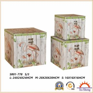 Wooden Antique Suitcase Storage Box Gift Box pictures & photos