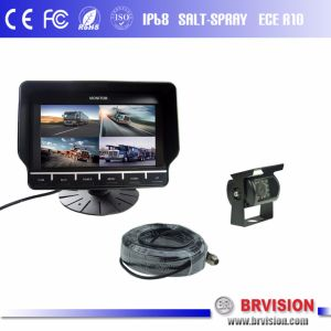 7 Inch Digital LCD Quad Monitor System with Touch Button pictures & photos