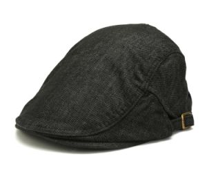Black Jean Washed Flat Cap pictures & photos