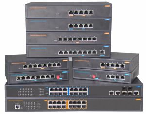 24 Port and 4 SFP Fiber Optic Poe Ethernet Network Switch pictures & photos