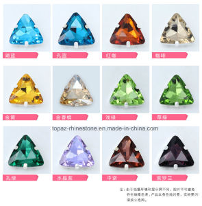 Triangle Point Back with Claw Sew on Rhinestone for Dance Garment (SW-triangle 18mm) pictures & photos