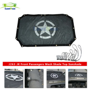 1 PC J263 Black Sunshade Durable Polyester Mesh Bikini Top Cover for 2-Door or 4-Door Jk or Jku 2007-2017 pictures & photos