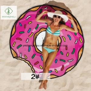 Hot Sale Hamburger Pizza Printed Cartoon Beach Towel Beach Mat pictures & photos