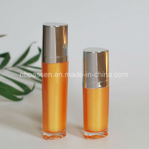 15/50ml Orange Acrylic Cosmetic Bottle with Lotion Pump (PPC-NEW-095) pictures & photos