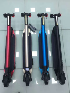 Carbon Fiber Motor Scooter Handle Electric Skateboard Folding Electric Scooter pictures & photos