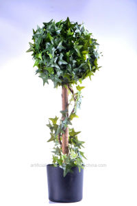 Various Color Artificial Plant of 10′′ IVY Ball Topiary in The Plastic Pot pictures & photos