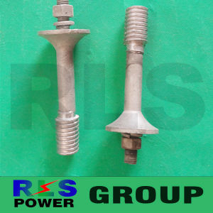 High Voltage Electrical Crossarm Pin / Spindle for Insulator/Spindle Electric Power Fittings