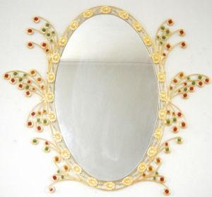 2014 New Metal Oval Bath Wall Mirror (J004)