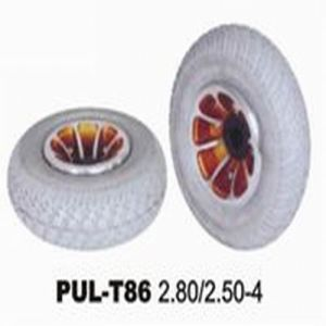 Marking PU Filled Rubber Wheelchair Wheel pictures & photos