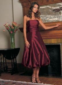 Tea-Length Bridesmaid Dress and Bridesmaid Gown (TEALF009)