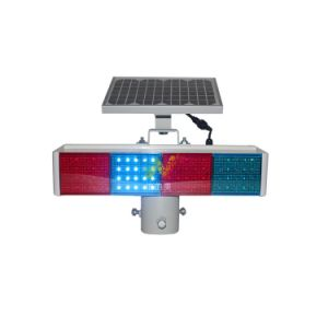 New Design PC Housing Red Blue Module Solar Flashing Light pictures & photos
