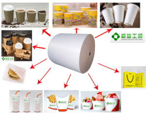 PE Coated Paper for Starbucks Kraft Packaging Bag pictures & photos