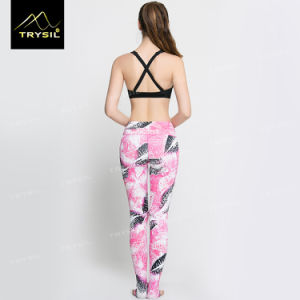 Yoga Foot Pant Lip Printed Footed Leggings pictures & photos