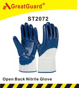 Cotton Jersey Nitrile Glove (ST2072) pictures & photos