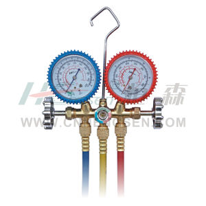 C T-536 G F / S Bras Manifold Gauges Set for R12/R22/R502 Double Gauges Manifold Set Air Conditioner Parts Refrigeration Parts Refrigeration Tools pictures & photos