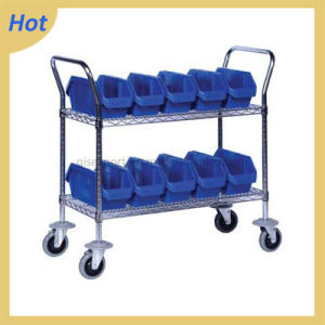 4 Wheels Wire Mesh Cage Trolley pictures & photos