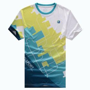 Round Neck Short Sleeve T-Shirt Heat Tranfer Printing T-Shirt