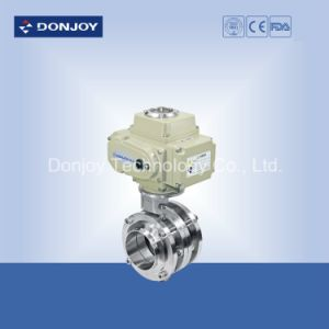 Stainless Steel Sanitary electric Weld 3 PC Butterfly Valve pictures & photos