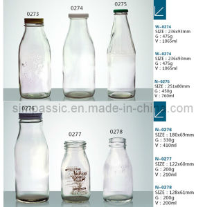 Glass Milk Bottle 1000ml (from 50ml to 2500ml) pictures & photos