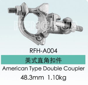 Scaffolding American Type Forged Double Coupler (RFH-A004) pictures & photos