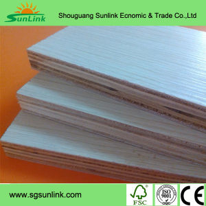 Natural Veneer and Melamine Paper Face Block Board pictures & photos