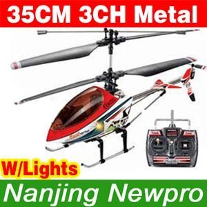 Hot 35cm 3CH RC Helicopter With Metal Frame,Flashlights For Indoor&Outdoor Flight (LY6603)
