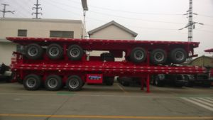 Cimc Low Price $9000 Stock 40FT Flatbed Semi Truck Trailer Truck Chassis pictures & photos